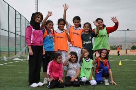 Mädchenfußball im Irak undSyrien