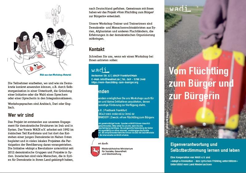 flüchtling flyer