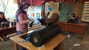 Nähfabrik für Masken in Halabja